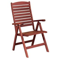 High Back Armchair 5 Seats Red Shorea