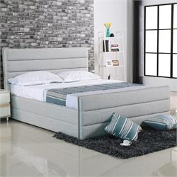 Double bed - Sand-Grey Fabric
