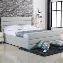 Κρεβάτι διπλό - Ύφασμα Sand Grey