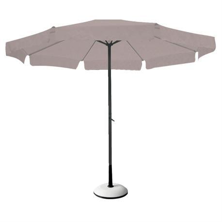 Αλουμινίου ομπρέλα στρογγυλή μπεζ
