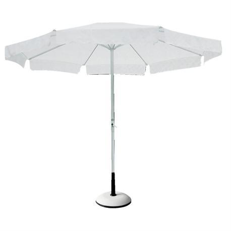 Αλουμινίου ομπρέλα στρογγυλή λευκή