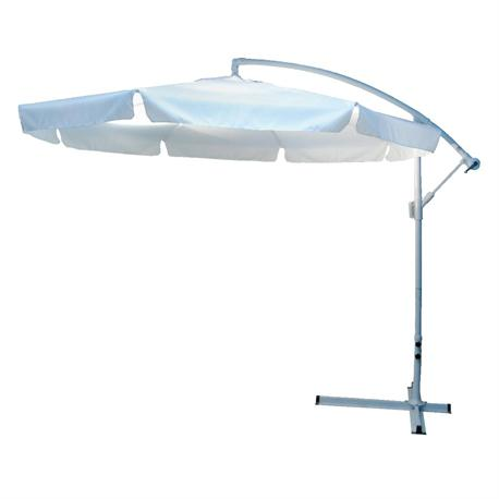 Umbrella white (with metallic base)