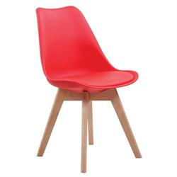 Chair red PP-seat PU