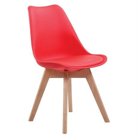 Καρέκλα κόκκινο ΡΡ- κάθισμα PU