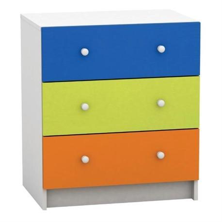 Συρταριέρα 3σ.πολύχρωμη-άσπρο