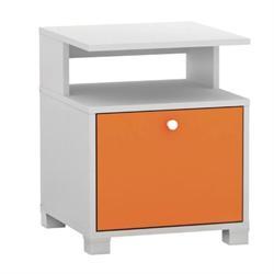 Κομοδίνο άσπρο-πορτοκαλί