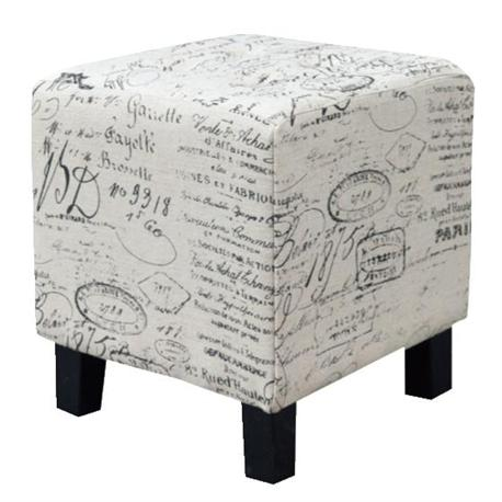Stool fabric deco ecru