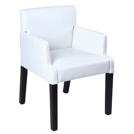 Armchair white PU