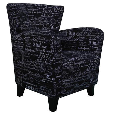 Armchair fabric deco black