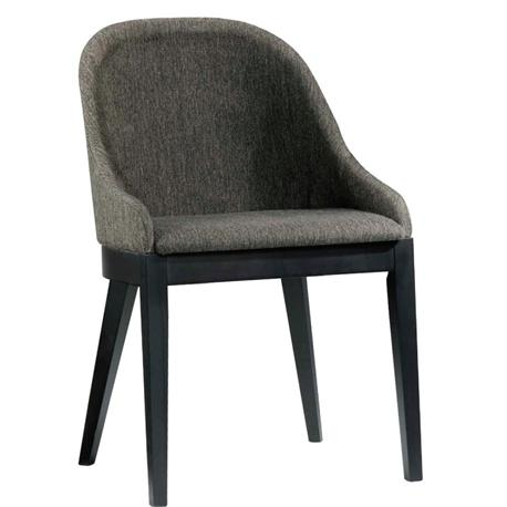 Chair wenge -fabric brown