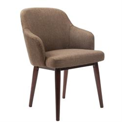 Armchair fabric brown