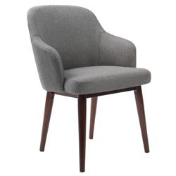 Armchair fabric grey