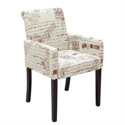 Armchair fabric deco brown