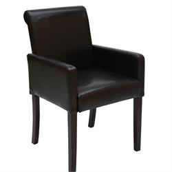Armchair dark brown PU