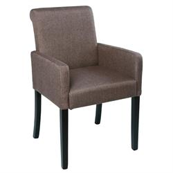 Armchair fabric dark brown