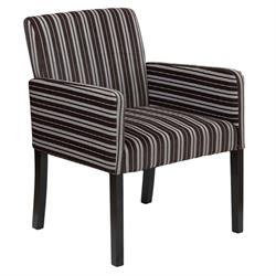 Armchair fabric brown with stripes