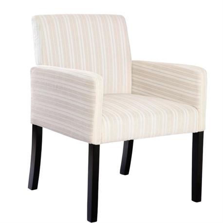 Armchair fabric ecru with stripes