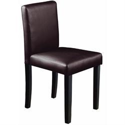 Καρέκλα promo σκ.καφέ PVC