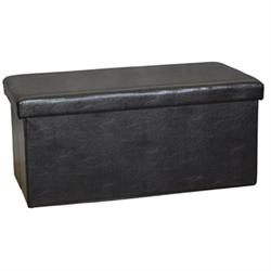 Storage stool dark brown PU