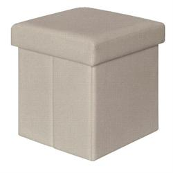 Storage stool white PU