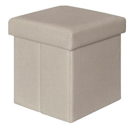 Storage stool white PU