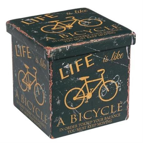 Αποθηκευτικό σκαμπώ PU deco bike