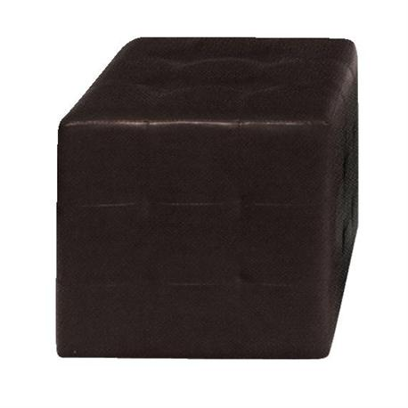 Stool dark brown PU