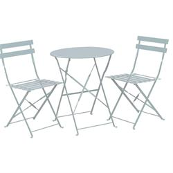 Set table white+2 chairs (folding)