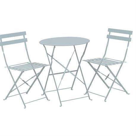 Σετ Τραπέζι άσπρο +2 καρέκλες( πτυσσόμενο)