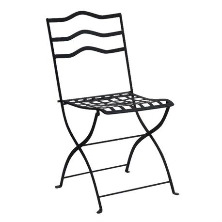 Καρέκλα πτυσσόμενη μαύρη