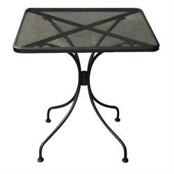 Τραπέζι τετράγωνο-mesh μαύρο