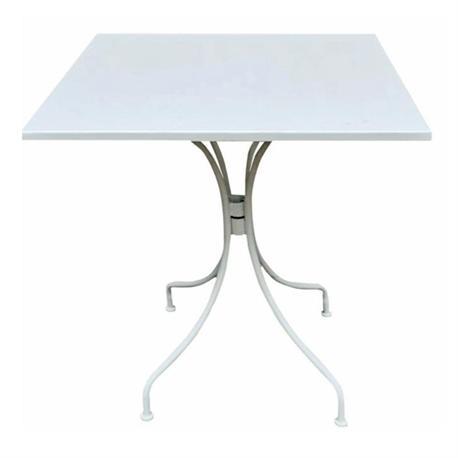 Τραπέζι τετράγωνο άσπρο