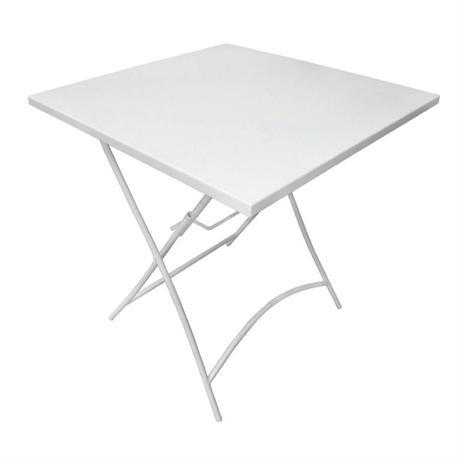 Folding table white 70Χ70Χ71cm