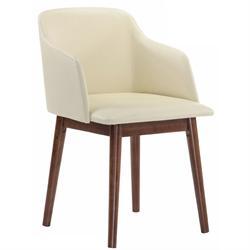 Armchair light walnut-ecru PVC