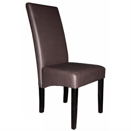 Chair promo dark brown PVC