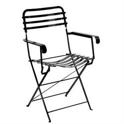 Πολυθρόνα πτυσσόμενη μαύρη