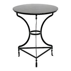 Τραπέζι στρογγυλό μάυρο