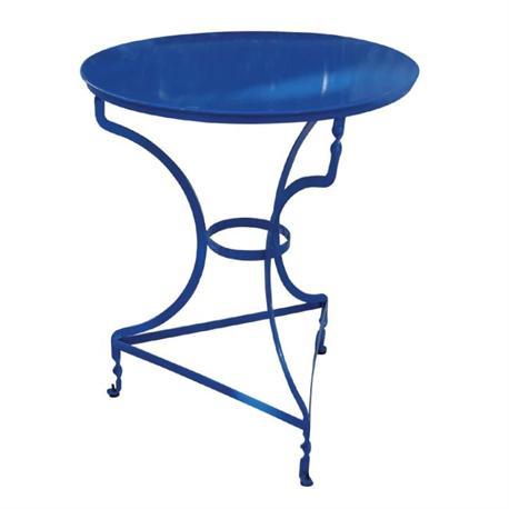 Τραπέζι στρογγυλό μπλε
