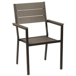 Stackable galvanized armchair Pollywood