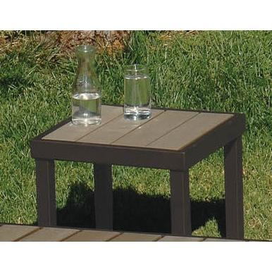 Square coffee table brown Pollywood