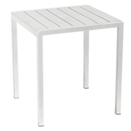 Τραπέζι τετράγωνο λευκό Pollywood 70Χ70 εκ