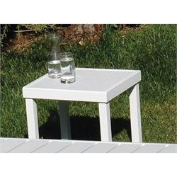 Square coffee table white Pollywood