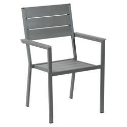 Πολυθρόνα γαλβανισμένη γκρί Pollywood