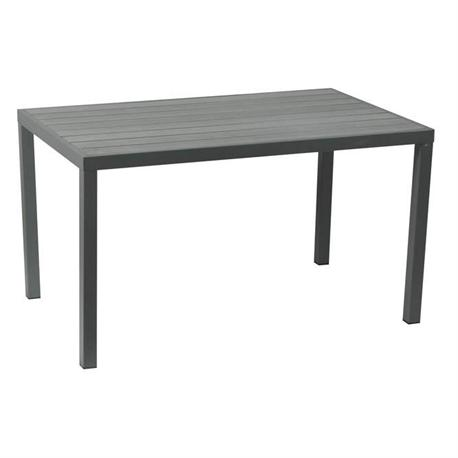 Rectangular table grey Pollywood 80X140 cm