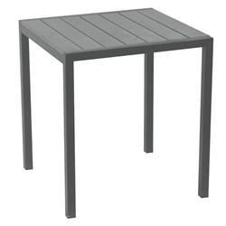 Τραπέζι τετράγωνο γκρι Pollywood 70Χ70 εκ