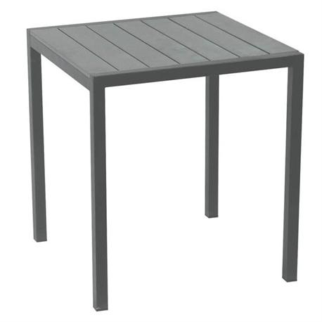 Square table grey Pollywood 70X70 cm
