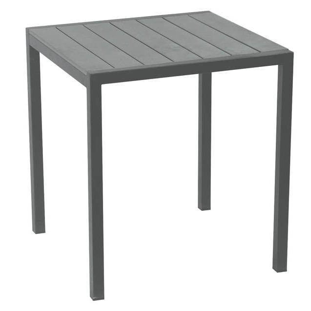 Square table grey pollywood 70x70 cm for Table exterieur 70x70