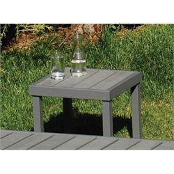 Square coffee table light grey Pollywood