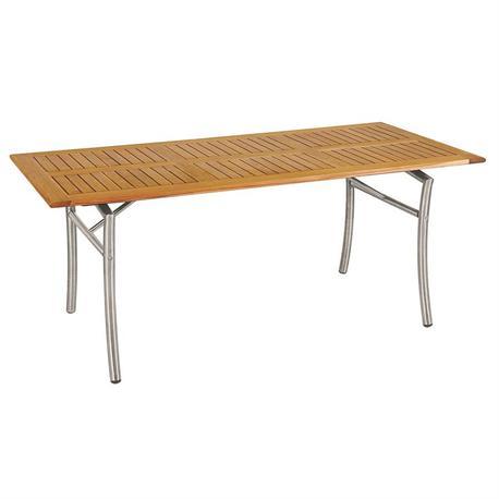 Τραπέζι παραλ/μο Teak-inox 85X180 εκ