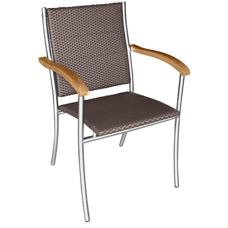 Πολυθρόνα στοιβαζόμενη με συνθετικό rattan